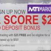 $25 No-Deposit Bonus – MTI Markets