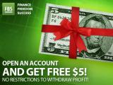 $5 No-Deposit Bonus – FBS